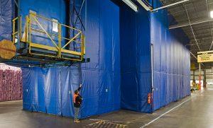 Temperature curtain wall. Credit: Rite-Hite