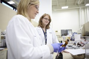 (Left) Cassie Krzeszewski, Senior Applications Technologist, FONA; (right) Julie Talkington,Senior Scientist, FONA. (Image Credit: FONA International)