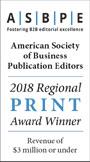 ASBPE 2018 Regional Print Award Winner
