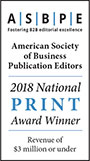 ASBPE 2018 National Print Award Winner