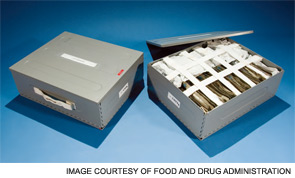 An international space station food container.