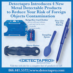 Detectapro is a supplier of metal detectable products used in production areas.