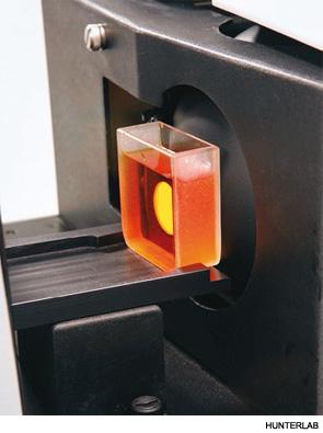 Soft drink sample measured with transmission instrumentation.